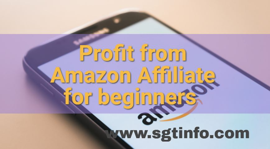 Profit from Amazon Affiliate for beginners 2021