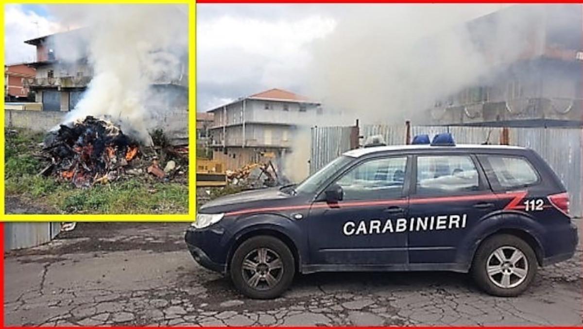 incendio doloso Belpasso