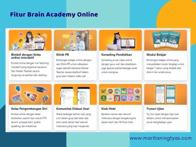 fitur unggul brain academy