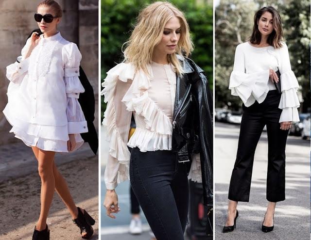 tendencias de moda primavera verão 2018 - lookcom babado