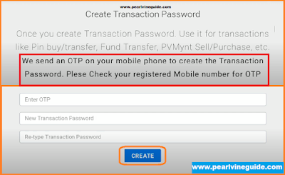 Set or Change Transaction Password in Pearlvine System
