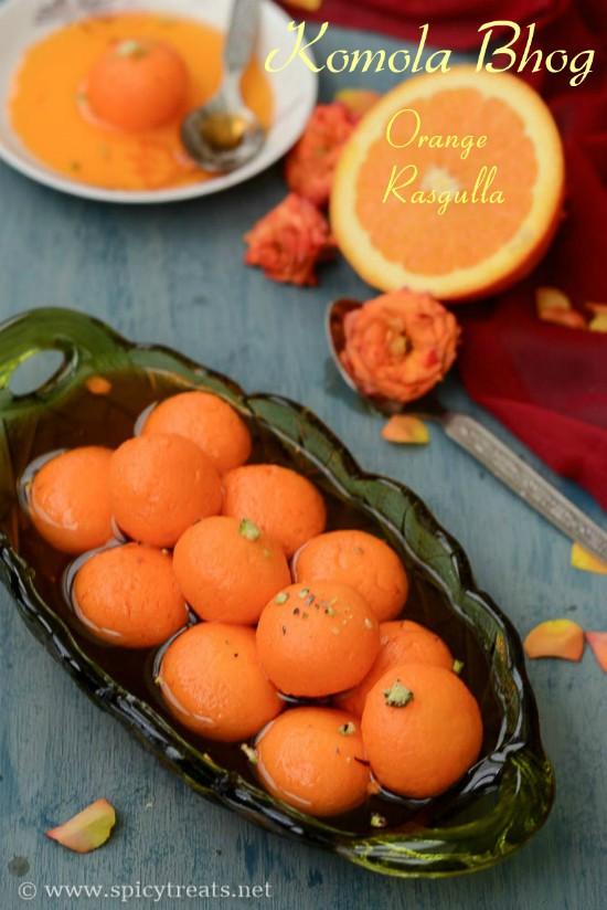 Orange Rasgulla