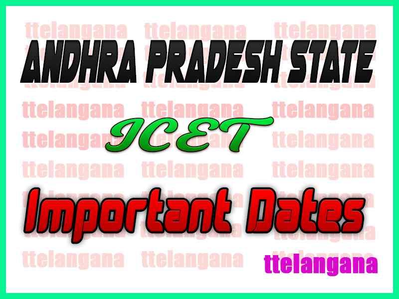 Andhra Pradesh AP ICET Important Exam Dates