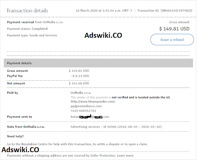 adsterra paypal payment proof