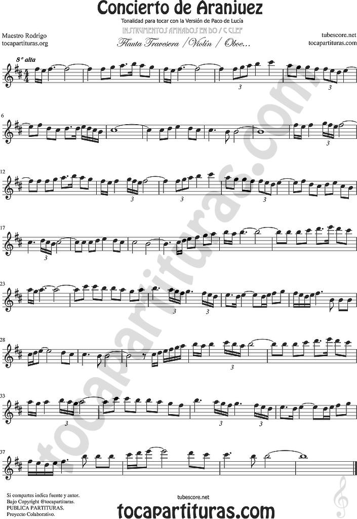 diegosax concierto de aranjuez partitura de flauta