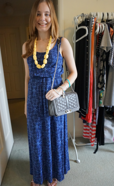 Jeanswest Chantelle Printed Maxi Dress petite blogger Rebecca Minkoff Love bag