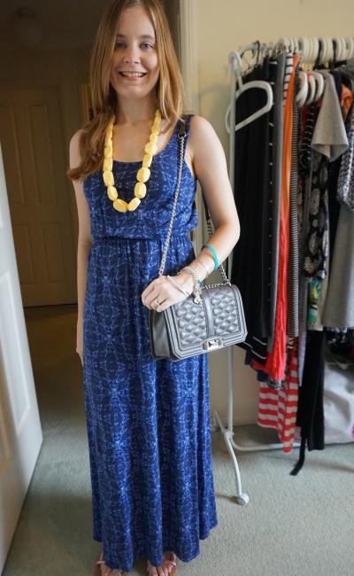Jeanswest Chantelle Printed Maxi Dress petite blogger Rebecca Minkoff Love bag
