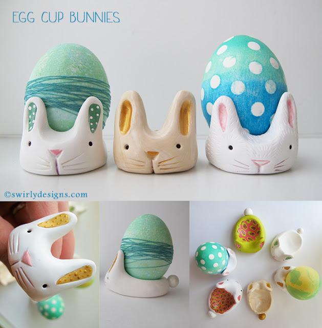 egg cup bunnies