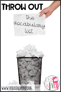 Stop teaching vocabulary in isolation! Check out the research that provides three big reasons why vocabulary lists don't work.
