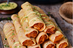 Buffalo Chickpea Taquitos #vegan #vegetarian #soup #breakfast #lunch