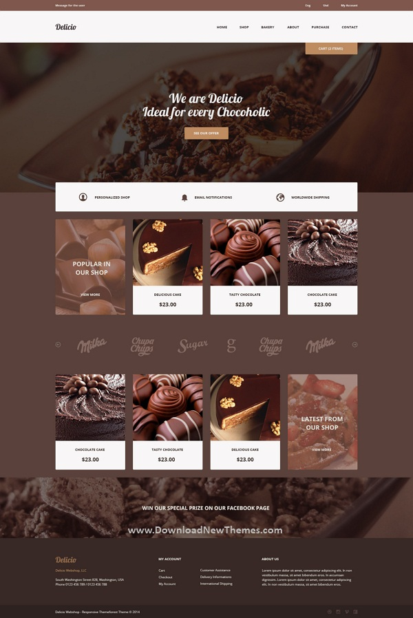 Bakery & Food eCommerce HTML Template
