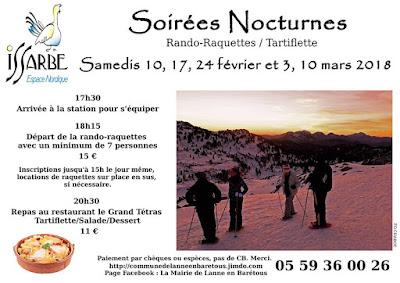 Soirées nocturnes - Randos-raquettes tartiflette à Lanne-en-Barétous
