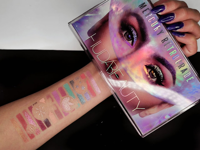 HUDA BEAUTY RETROGRADE EYESHADOW PALETTE SWATCHES