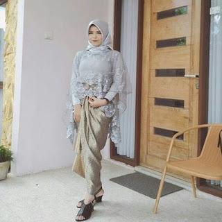 model baju kebaya modern berjilbab wisuda