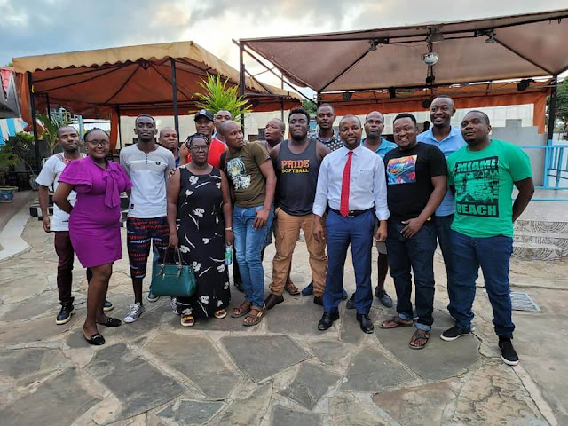lawyer Breaking News -George Kithi  meeting with Bango Artists photo