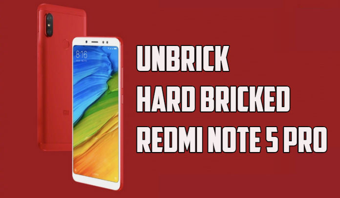 Unbrick Redmi Note 5 / Pro with Bypass Authorized Mi Account ROM