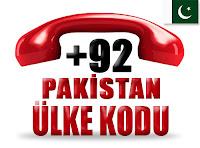 +92 Pakistan ülke telefon kodu
