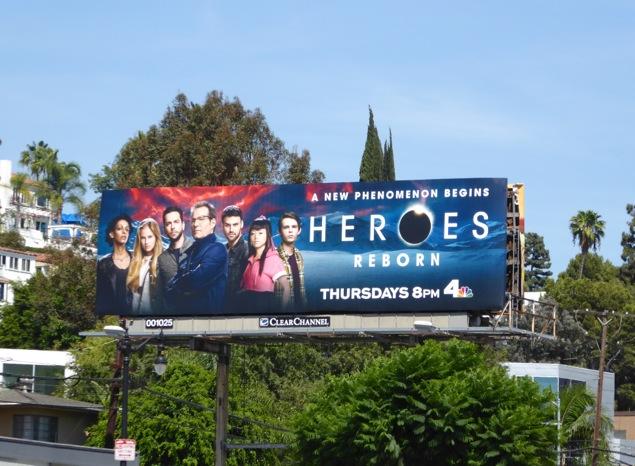 Heroes Reborn 2015 billboard