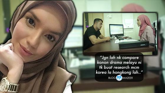 """Skrip Drama """"Titian Cinta"""" Dikecam, Ini Respon Makan Dalam Faezah Lai"""