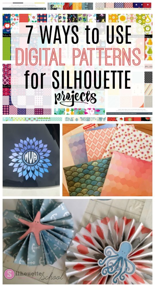 silhouette 101, silhouette america blog, digital patterns, digital pattern projects, print and cut