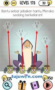 Jawaban level 173 bantu sebar jebakan hantu, mereka sedang berkeliaran! brain test
