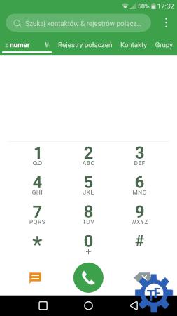 Dialer w Androidzie 8