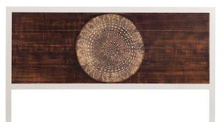 cabecero forja estilo actual madera central