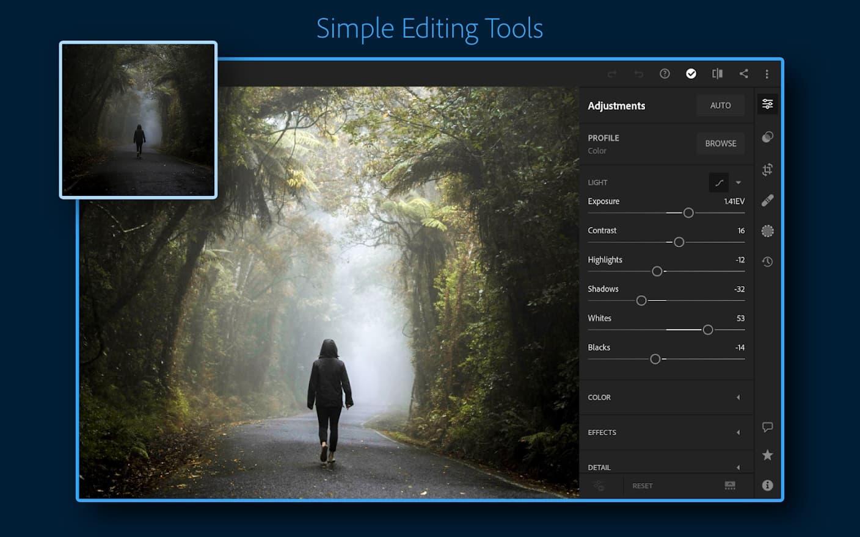 aplikasi edit foto terbaik, Adobe Lightroom