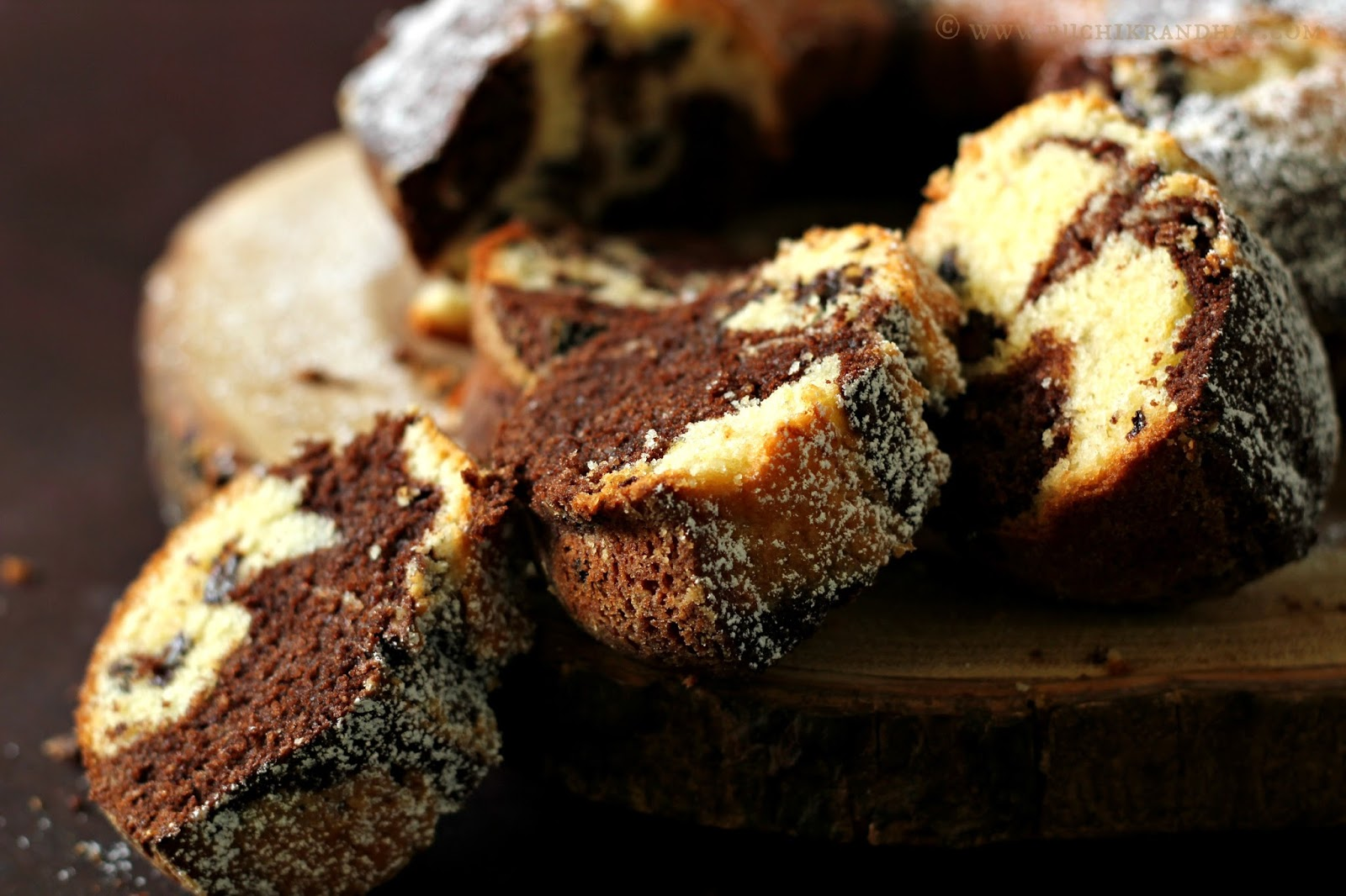 Chocolate Marbled Love Cake