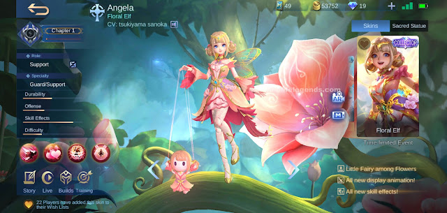 Angela Floral Elf