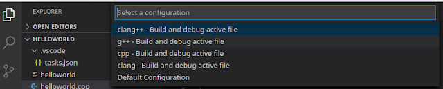 configure VS code editor for C/C++ language