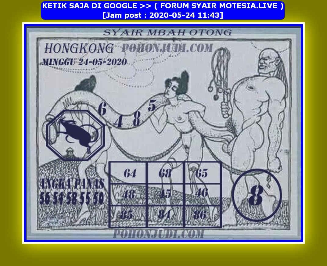 Kode syair Hongkong Minggu 24 Mei 2020 219
