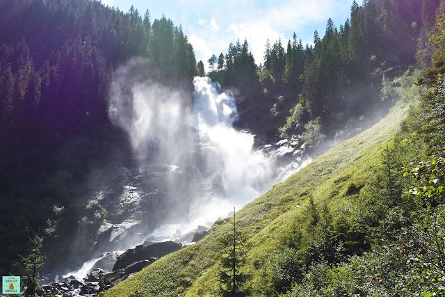 Nivel superior de las cataratas Krimml, Austria