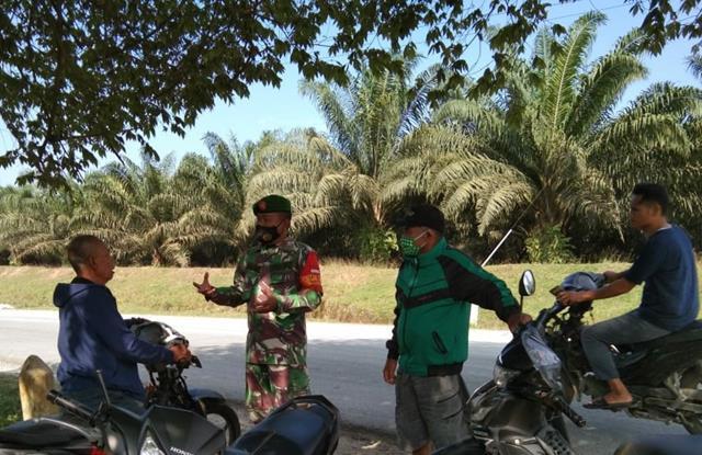 Kepada Warga Binaan, Personel Jajaran Kodim 0207/Simalungun Edukasi Pentingnya Pakai Masker Ditengah Pandemi