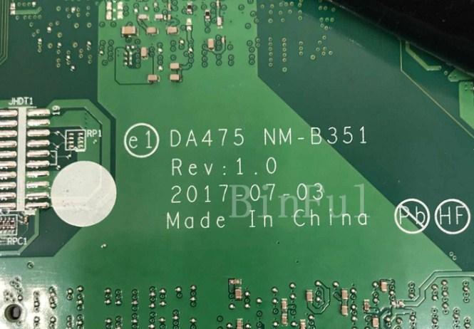 NM-B351 Rev 1.0 Lenovo ThinkPad A475 Bios