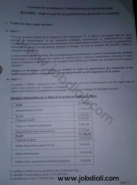 Exemple Concours de Recrutement ACG et GFC 2019 - Ministère de l'Intérieur