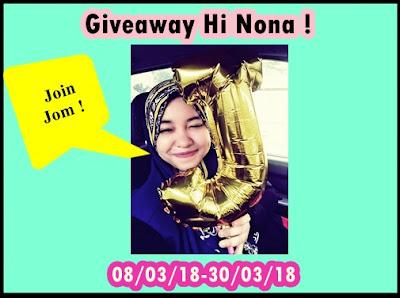 Giveaway Hi Nona !, Blogger Giveaway, Hadiah, Pemenang, Peserta,
