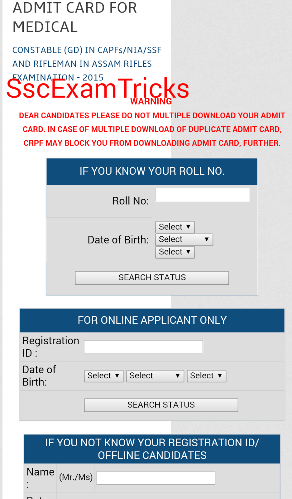 Ssc Chsl Admit Card 2015 Pdf