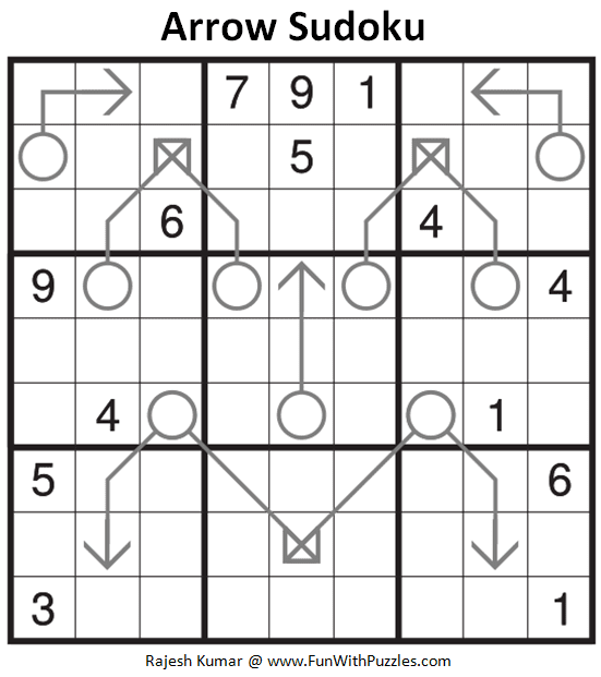 Arrow Sudoku Puzzle (Fun With Sudoku #283)