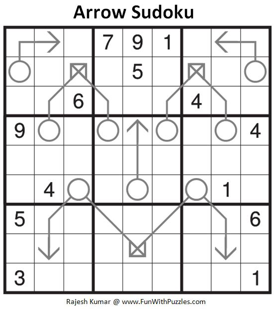 Arrow Sudoku Puzzle (Fun With Sudoku #283)