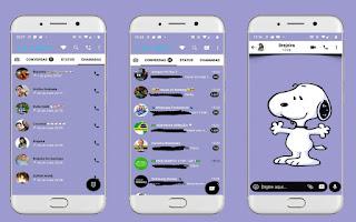 Snoopy Dog Theme For YOWhatsApp & Fouad WhatsApp By Leidiane