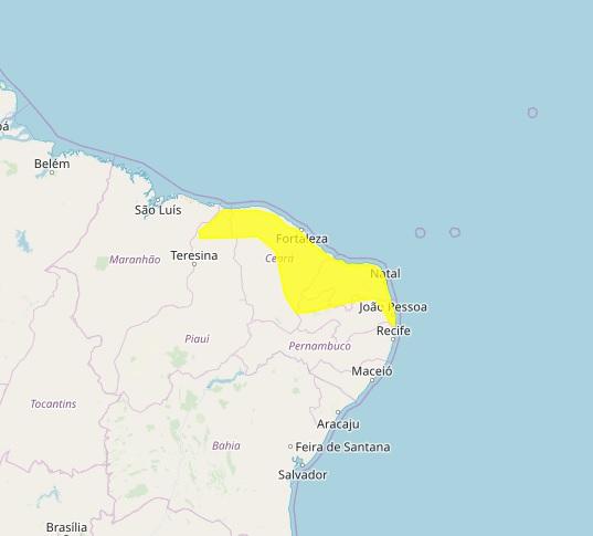 CHUVA: Inmet alerta 78 cidades da PB para chuvas e ventos fortes.
