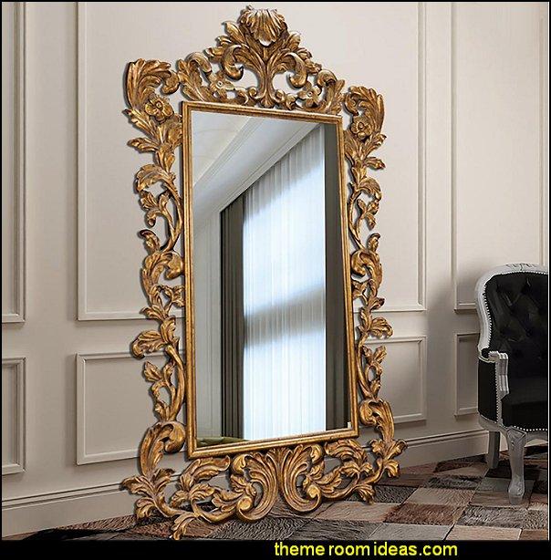 Antique Mirror in Gold,marie antoinette bedroom furniture