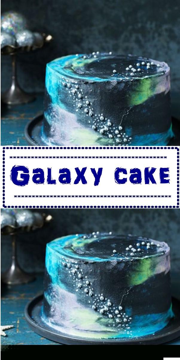 Galaxy cake #cakerecipes