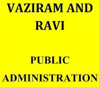 Vajiram Ravi Public Administration Notes