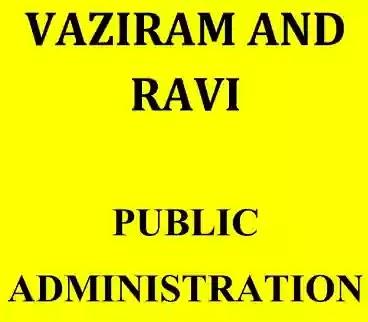 Vajiram Ravi Public Administration Notes PDF