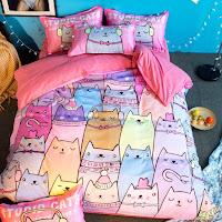 ropa de cama para los amantes de los gatos