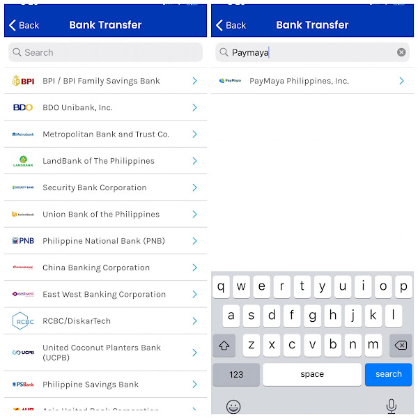 how to send money from GCASH to PAYMAYA