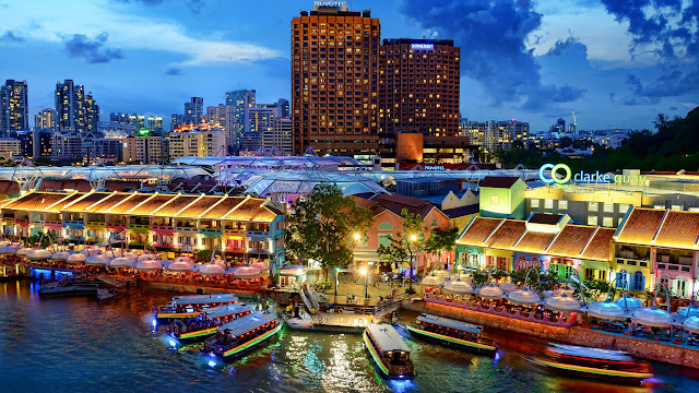 Wisata keindahan sungai singapura di Singapore River Cruise by Water