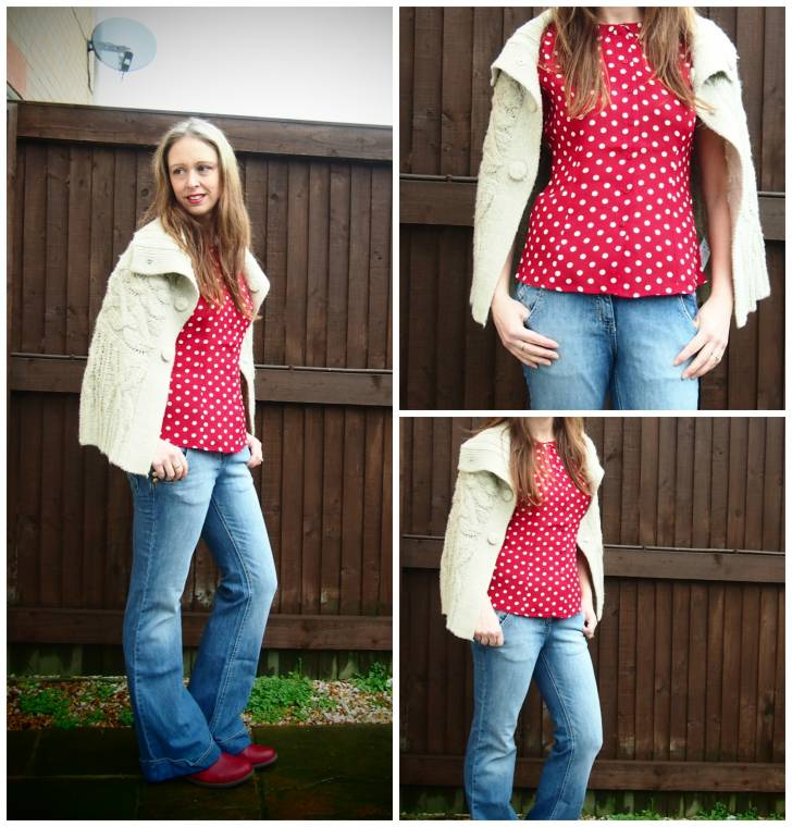 Polka Dots And Jeans:  Such A Classic Combination